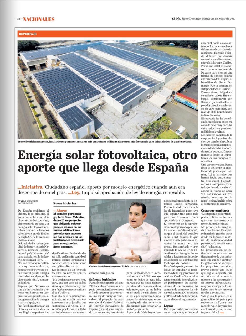 (Español) Energía Solar fotovoltaica, otro aporte que llega desde España
