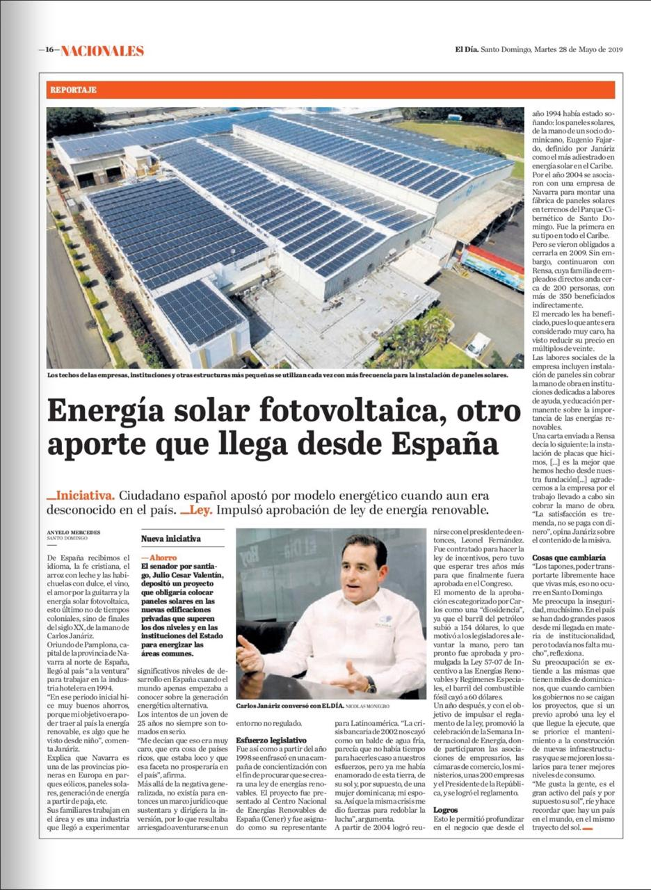 (Español) Energía Solar foovoltaica, otro aporte que llega desde España