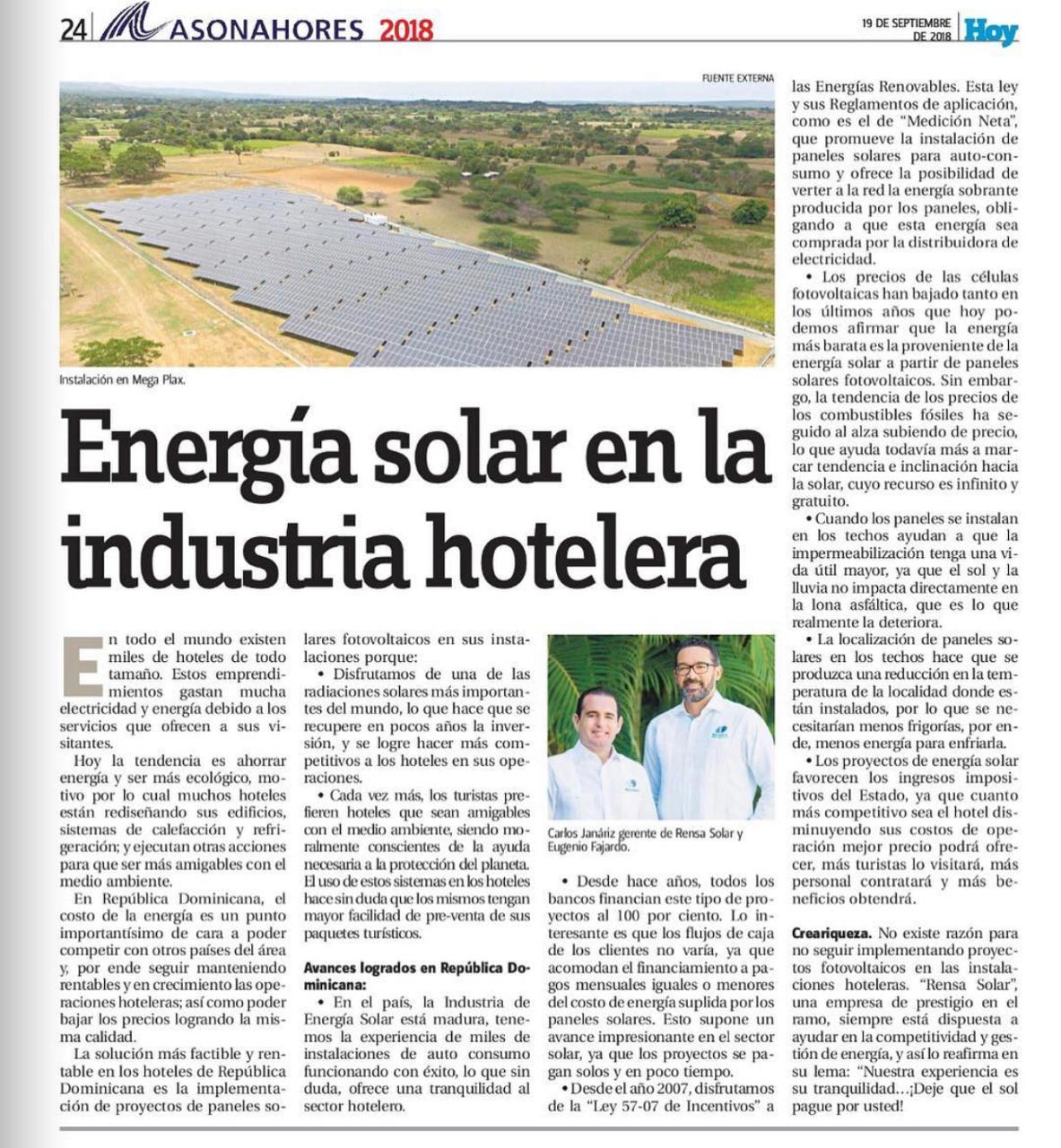 Energía Solar en la Industria Hotelera