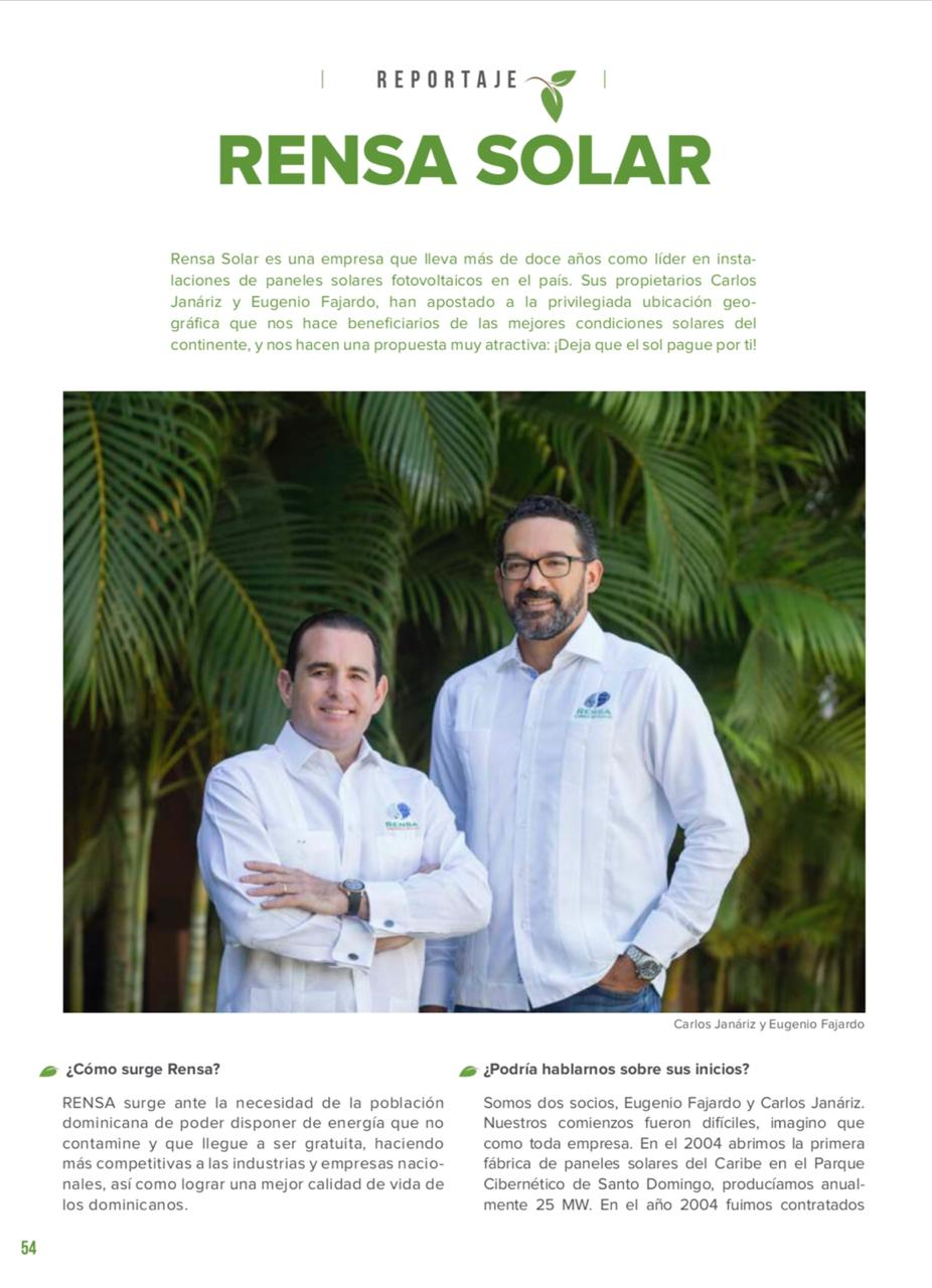 Reportaje Rensa Solar @ Revista Verde